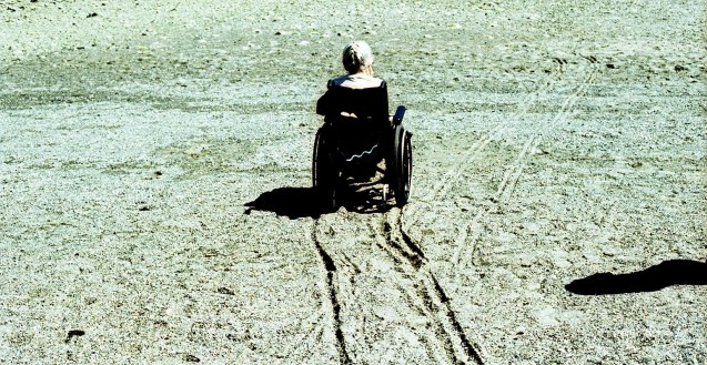 Wheelchair on the beach